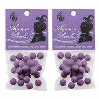 Aroma Pearls for Essential Oil Diffusion in Necklaces and Lockets Clay Based (Purple)