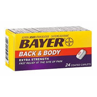 Bayer Back & Body Extra Strength Coated Caplets 24 ea Pack of 2