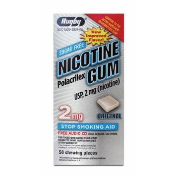 RUGBY NICOTINE GUM 2MG 50 Original (Compared to Nicorette Gum)
