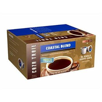 Caza Trail Coffee, Coastal Blend, 56 Single Serve Cups