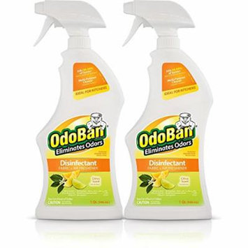 OdoBan Odor Eliminator & Disinfectant Ready-to-Use, Citrus Scent (32 Ounces, 2 Pack)