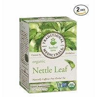 Traditional Medicinals Organic Nettle Leaf Herbal Tea -- 16 Tea Bags Each / Pack of 2