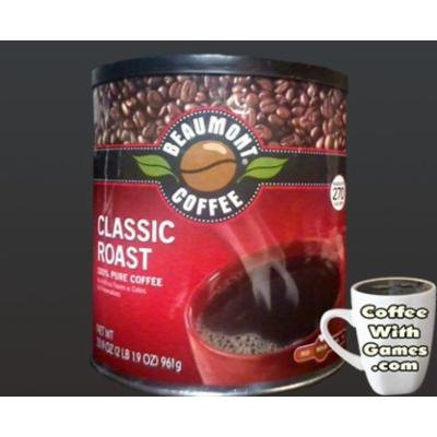 Beaumont Coffee Classic Roast Fine Grind Medium Roast (2 Lb 1.9 Oz) Tin