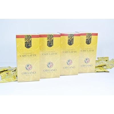 4 boxes Organo Gold Gourmet Cafe Latte coffee with Organic Ganoderma (20 sachets per box)