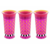 Sassy 9 Ounce 360 Degree No-Spill Grow Up Cup, 3 Pack - Pink