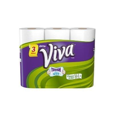 Viva Paper Towels, White, Big Roll, Choose-A-Size, White (12 Rolls)