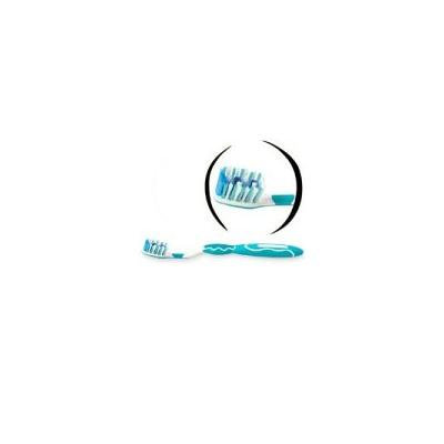 Mentadent White Clean Toothbrush With Whitening Ribbon, Full, Medium 92 ,Colors May Vary