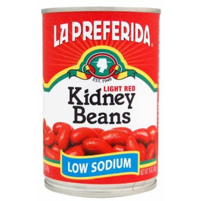 La Preferida Kidney Beans, Low Sodium, 15 oz (Pack of 12)