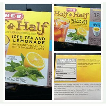 H.E.B HALF AND HALF Iced Tea and Lemonade k-cup 12 cts. per box (Pack of 4)