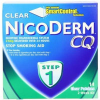 NicoDerm CQ Step 1 Clear Patch, 21 mg, 2-Week Kit (14 patches)