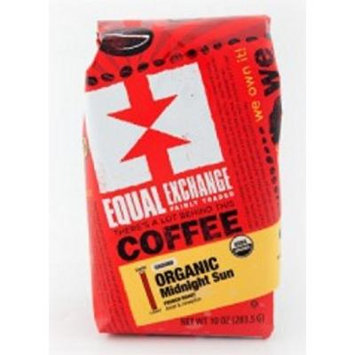 Equal Exchange Organic Coffee, Midnight Sun, Whole Beans, 12 Ounces, 3 PACK