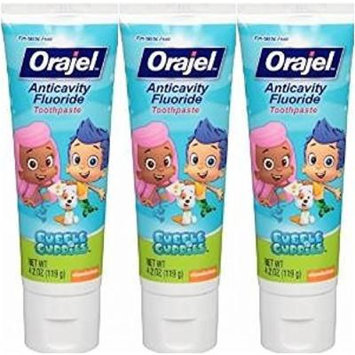 Orajel Bubble Guppies Anticavity Fluoride Toothpaste, 4.2 Oz (Pack of 3)