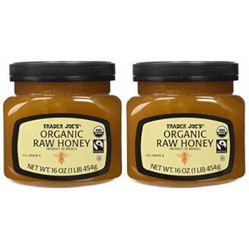 Trader Joe's Organic & Fair Trade Raw Honey (Pack of 2)