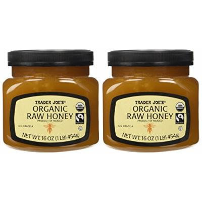 Trader Joe's Organic & Fair Trade Raw Honey (Pack of 2)