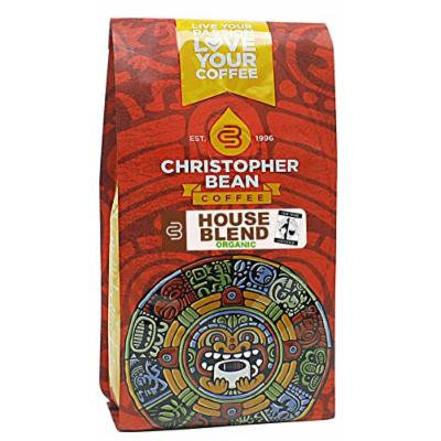 Christopher Bean Coffee Ground Coffee, House Blend Organic Fare Trade, 12 Ounce