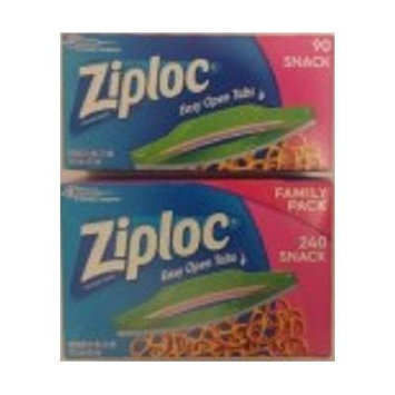 Ziploc Snack bags Family Pack 330 count bags