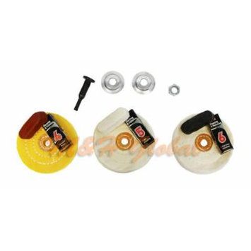 Cleaning Polishing Kit Compound Drill Chuck Arbor Buffering Buffer Pads Polisher