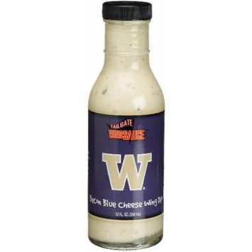 Tailgate University of Washington Bacon Blue Cheese Wing Dip, 12-Ounce Glass Bottles (Pack of 6)