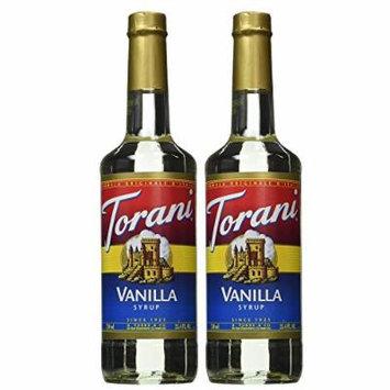 Torani Hazelnut, Vanilla, Strawberry, Peach, Raspberry 750ml Syrup (Vanilla, 2 Pack)