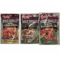 Chili's Bold Skillet Sauces Variety Bundle, 8 oz (Pack of 3) includes 1-Pouch of Mild Green Chile + 1-Pouch Citrus Mango Sauce + 1-Pouch Margarita Lime Sauce