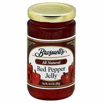 Braswells All Natural Red Pepper Jelly (Pack of 2) 10.5 oz Jars