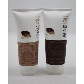 Herstyler Nourishing & Moisturizing Shampoo + Conditioner With Argan Oil 4 oz
