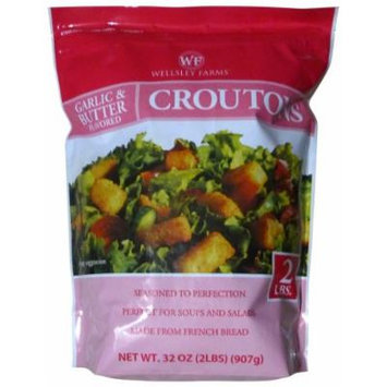 Wellsley Farms Garlic & Butter Flavored Croutons (2 Pounds)