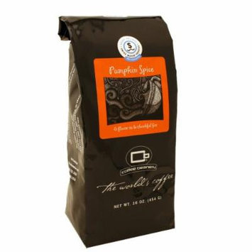 Coffee Beanery Pumpkin Spice Flavored Coffee SWP Decaf 16 oz. (Whole Bean)