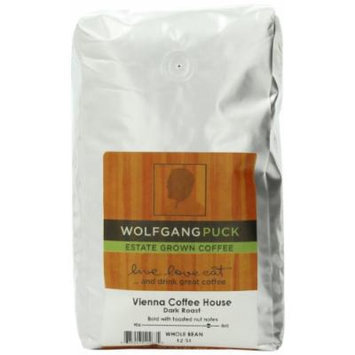 Wolfgang Puck Coffee Vienna Coffee House Whole Bean Bulk Coffee, 2-Pounds