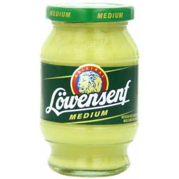 Lowensenf Mustard in Jar, Medium Hot, 9.3 Ounce