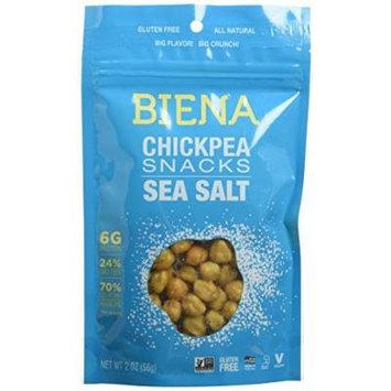 Biena All Natural Roasted Chickpeas Snacks Case of 12 - 2 oz bags (Sea Salt)