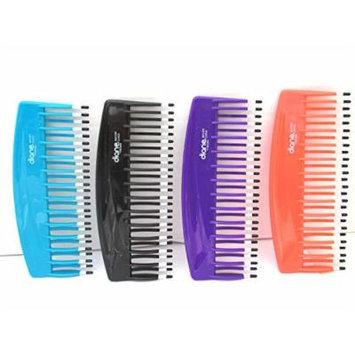 Mebco Double Dip Volume Detangler Comb V200 Peach - 4 pieces, hair brush, hair comb, pick, pik, detangler, shower detangler, detangles, short hair, long hair, thick hair, thin hair, adults and kids, won't hurt your scalp, ergonomic handle, double...