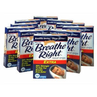 Breathe Right Nasal Strips, Extra, 10ct (Pack of 10)