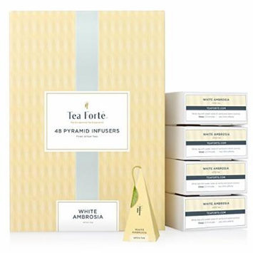 Tea Forté® BULK PACK White Ambrosia White Tea, 48 Handcrafted Pyramid Tea Infusers