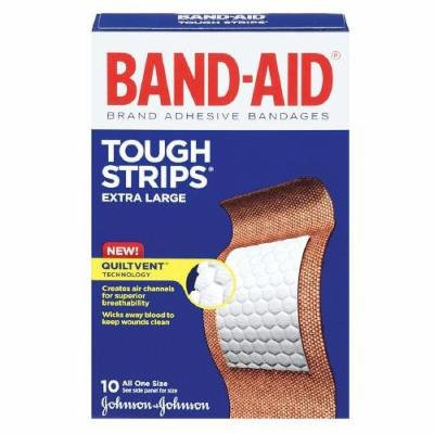 Band-Aid Tough-Strips Bandages, Extra Large 10 ea Pack of 12