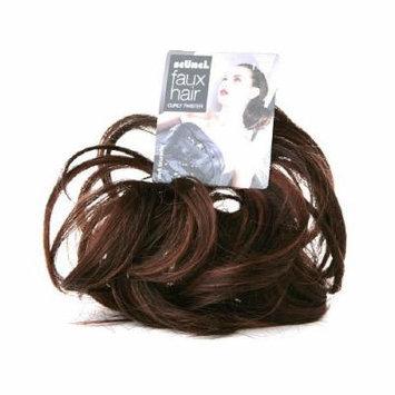 Scunci Faux Hair Curly Twister, Dark Brunette 1 ea