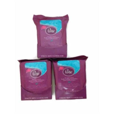 Poise Body Cooling Towelettes, 20 Count (3 Pack)