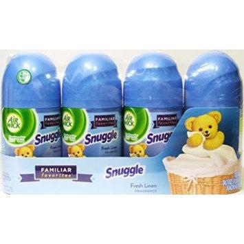 Air Wick Air Freshener Snuggle Fresh Linen Fragrance 24.7 Oz (1 Lb 8.7 Oz, 700 G) Total Net Weight 1 Pack of 4 Refills