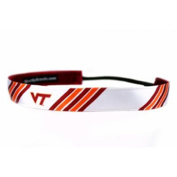 One Up Bands Women's NCAA Virginia Tech University Stripes One Size Fits Most
