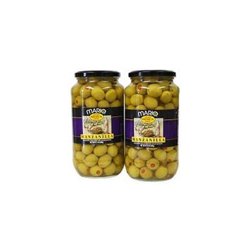Mario Manzanilla Spanish Olives - 2/21 oz. jars