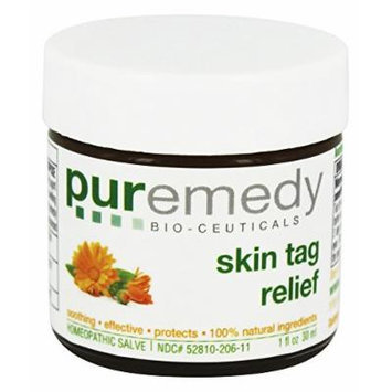 Puremedy Natural/Unscented Skin Tag Relief Homeopathic Salve, 1 Ounce
