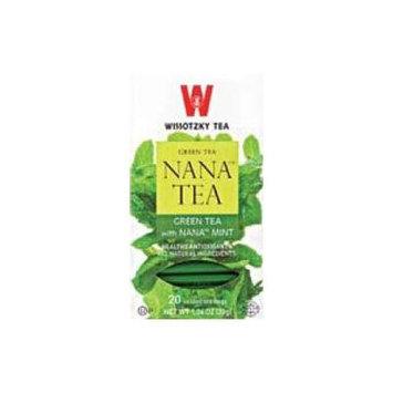 Wissotzky Tea Green Tea with Spearmint Leaves (Nana) Box of 20 Bags