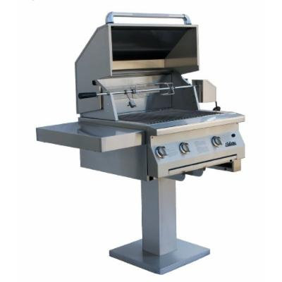 Solaire 30-Inch Infrared Propane Bolt-Down Post Grill with Rotisserie Kit, Stainless Steel
