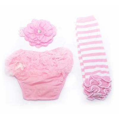 Ema Jane Ruffled Woven Baby Diaper Bloomer Covers (Choose From Many Colors or Styles) (3 to 18 Months) (3 Months to 18 Months, Ruffle Cupcake Set (Pink and White))