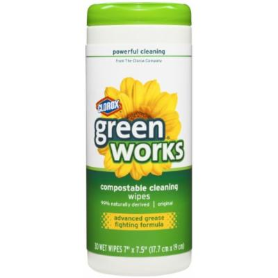 Green Works Compostable Cleaning Wipes Canister - 30 ct
