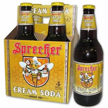 Sprecher, Soda Cream 4Pk, 64 FO (Pack of 6)
