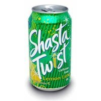 Shasta Twist Lemon Lime, 12-Ounces (Pack Of 24)