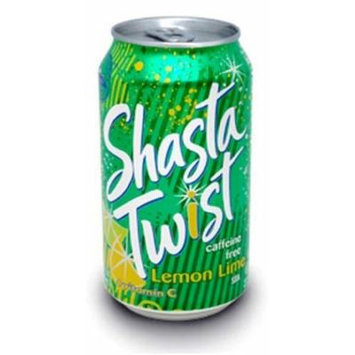 Shasta Twist Lemon Lime, 12-Ounces (Pack Of 24)