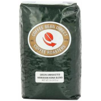 Green Unroasted Kona Blend, Whole Bean Coffee, 5-Pound Bag