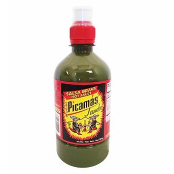 B&B Picamas Green Hot sauce 19 oz - Salsa verde picante (Pack of 6)